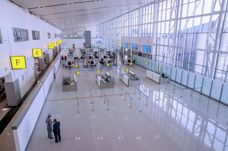 New Abuja Airport checking in and boarding area