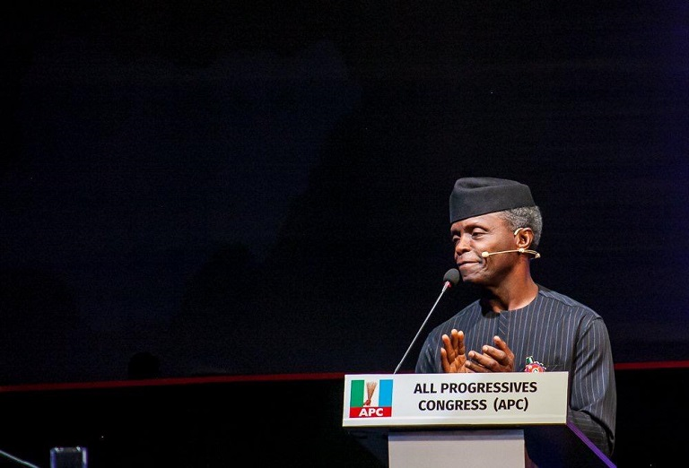 Vice President Yemi Osinbajo at the #2019Debate conducted by NEDG/BON at the Transcorp Hotel in Abuja on 14 December 2018