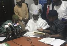 PDP presidential candidate Atiku Abubakar has signing the Peace Accord