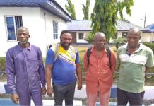 The Nigerian Navy has handed over four suspects of illegal oil bunkering to the EFCC