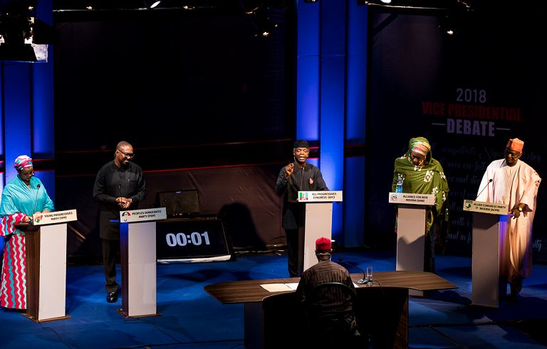 Vice President Yemi Osinbajo floored other Vice Presidential in the 2019 debate