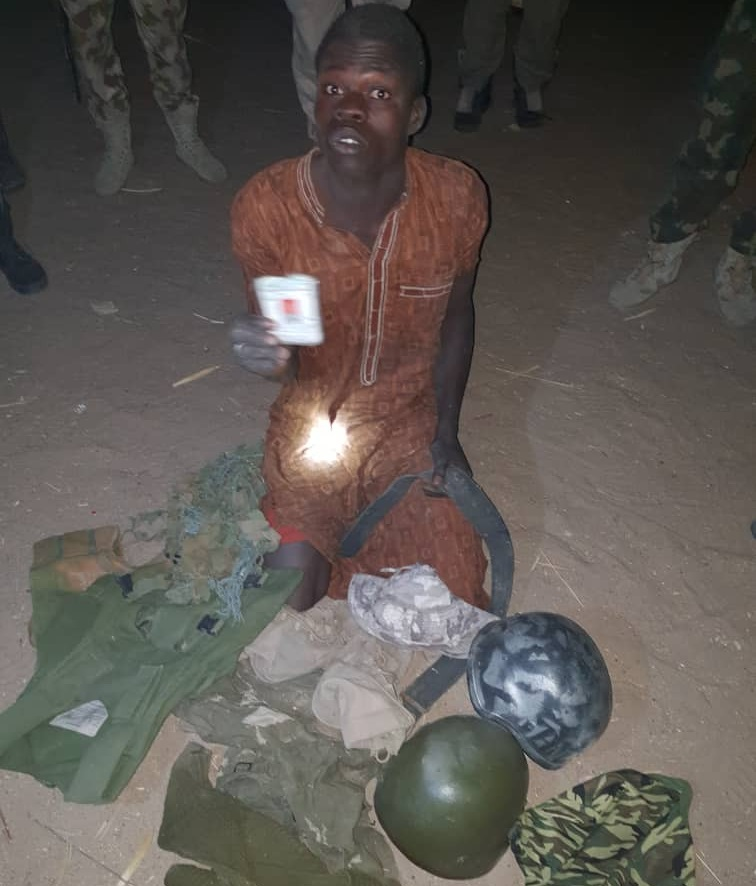 Babagana Abubakar who is on the Wanted Boko Haram Terrorist list has been arrested by Nigerian troops