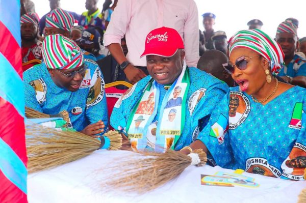 Babajide Sanwo-Olu, Governor Akinwunmi Ambode and his wife