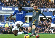 Jamie Vardy scored his seventh goal of the season as Leicester beat Everton