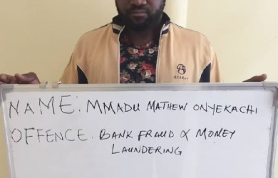 Mmadu Mathew Onyekachi was one of the Polaris Bank fraudsters granted bail