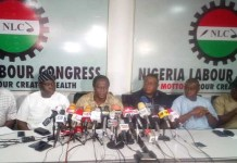 NLC President Ayuba Wabba addressing a world press conference in Abuja, Nigeria's capital