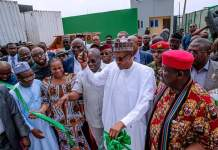 President Muhammadu Buhari in Abia state