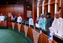 President Muhammadu Buhari presided over the National Council of State at the Presidential Villa in Abuja
