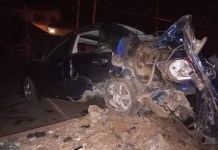 Scene of the accident in Iwokoro posted on Twitter by @SheunDam