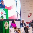 VP Yemi Osinbajo with panelists at the BBC News Countering Fake News Conference. L-R, Uche Pedro, Wole Soyinka, Festus Okoye of INEC and Funke Egbemode, Editor-in-chief of Daily Telegraph