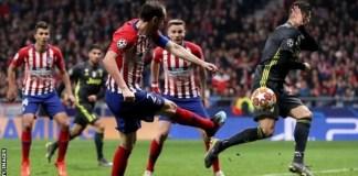 Diego Godin's goal went off Cristiano Ronaldo