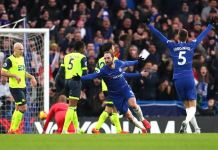 Gonzalo Higuain scored twice as Chelsea beat Huddersfield 4-0 at Stamford Bridge