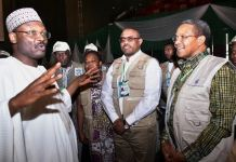 INEC chairman, Mahmood Yakubu, former Ethiopia Prime Minister Hailemariam Desalegn and other African Union observers