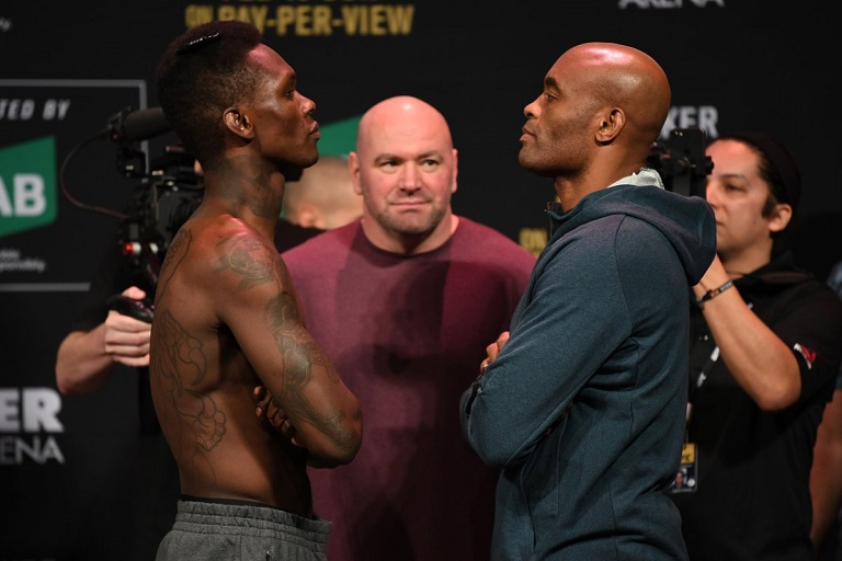 Israel Adesanya vs Anderson Silva was live on ESPN