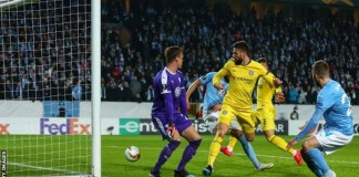 Olivier Giroud scored an exquisite flick as Chelsea beat Malmo 2-1 in Sweden
