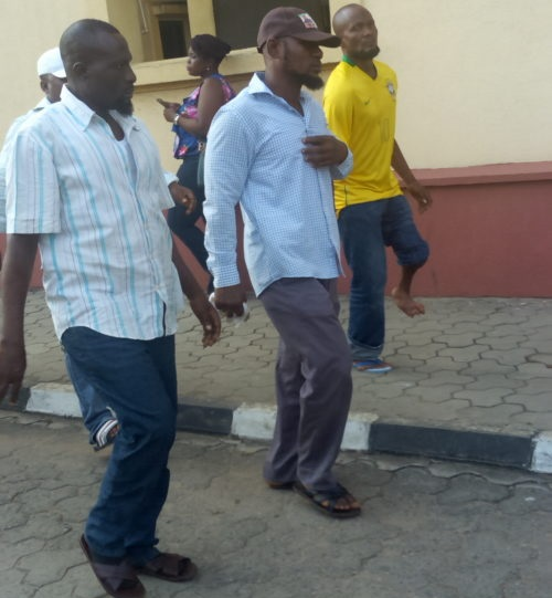 Some NURTW members at the court premises