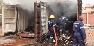 FILE PHOTO: Two containers in custody of INEC election materials gutted in Awka