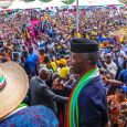 Vice President Yemi Osinbajo addressing the crowd in Akwa Ibom