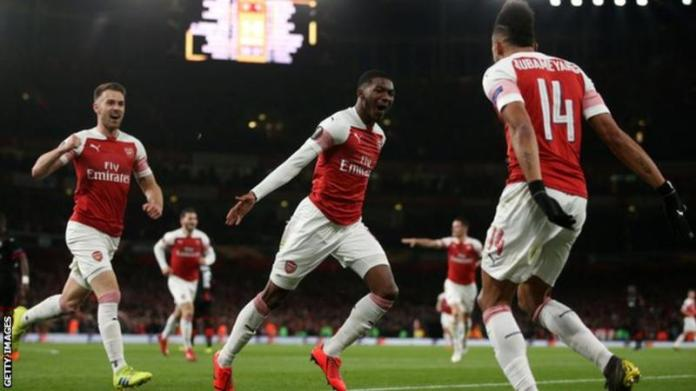 Ainsley Maitland-Niles scored Arsenal's second goal under 15 minutes