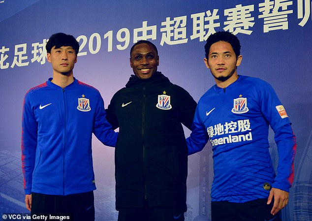 Shanghai Shenhua says Odion Ighalo (middle) will be punished over social media use