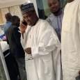 Governor Aminu Tambuwal of Sokoto receiving a call from Senator Wamakko Aliyu and APC governorship candidate, Ahmed Aliyu