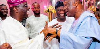 Jimi Agbaje (R) has congratulated Babajide Sanwo-Olu on his victory