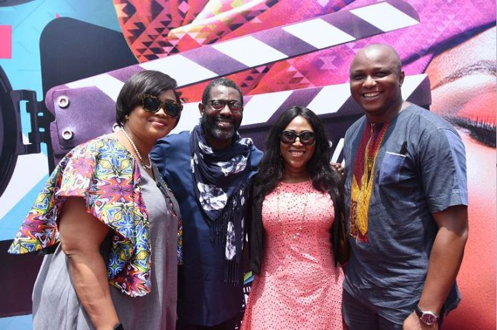L-R: Adeola Oloyede, Commissioning Editor Africa Magic; Femi Odugbemi, MultiChoice Talent Factory Academy Director for West Africa; Lilian Amah-Aluko, Ace Producer and Stanley Ohikhuare, Multiple AMVCA winner during the MTF Portal Launch held at the MultiChoice Head Office, Tiamiyu Savage, Victoria Island, Lagos today Tuesday 19th of March 2019