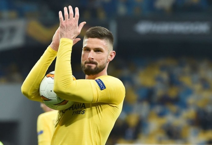 Olivier Giroud has been involved in 10 goals in Europe this season