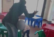 A creche teacher beating a child in South Africa went viral
