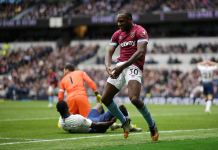 Michail Antonio scored as West Ham beat Tottenham in their new home in the league