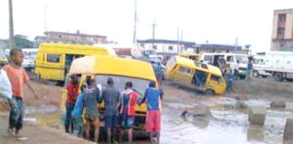 The poor state of Badagry road in lagos