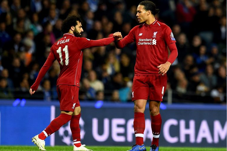 Mohamed Salah and Virgil van Dijk both scored for Liverpool