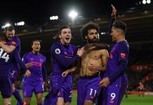 Mohamed Salah scored his 50th goal for Liverpool as the Reds return top of the league