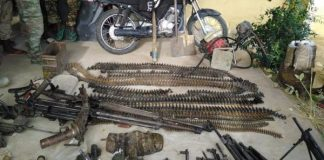 Motorcycle, flag and weapons recovered from Boko Haram over the weekend