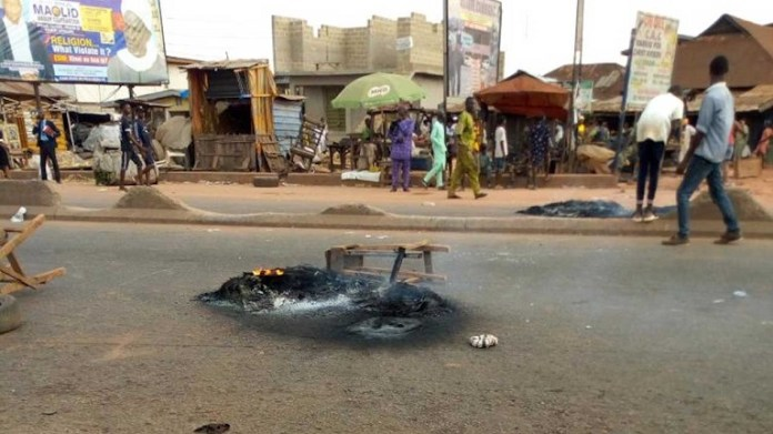 scene of the unrest at Ifo