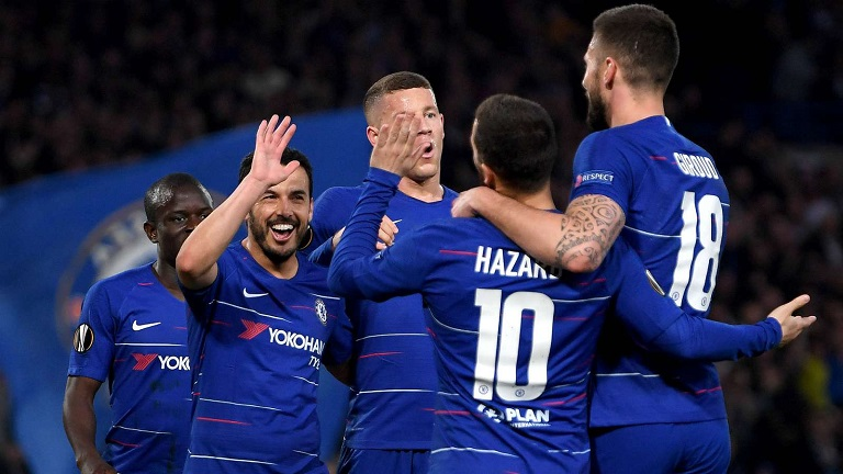 Chelsea book semi final date with Eintracht Frankfurt