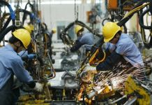China factory workers