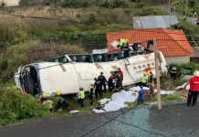 Reports suggest up to 28 people have died in a coach accident in Madeira