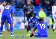 Cardiff City relegated after losing at home to Crystal Palace