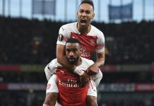 Alexandre Lacazette scored twice as Arsenal beat Valencia 3-1