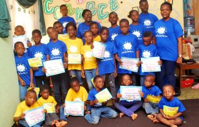 Certificate of Attendance was awarded to the kids