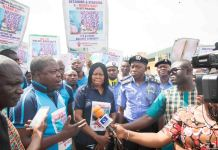 Dr Joe Okei-Odumakin led over 200 men and women to protest the illegal detention of Mrs Rofiat Oladepo and her nine-month old son