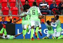 Flying Eagles celebrate their progression to the knock out of the U-20 World Cup in Poland