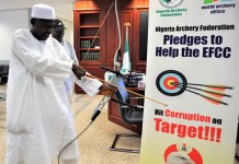 Ibrahim Magu at the Nigeria Archery Foundation