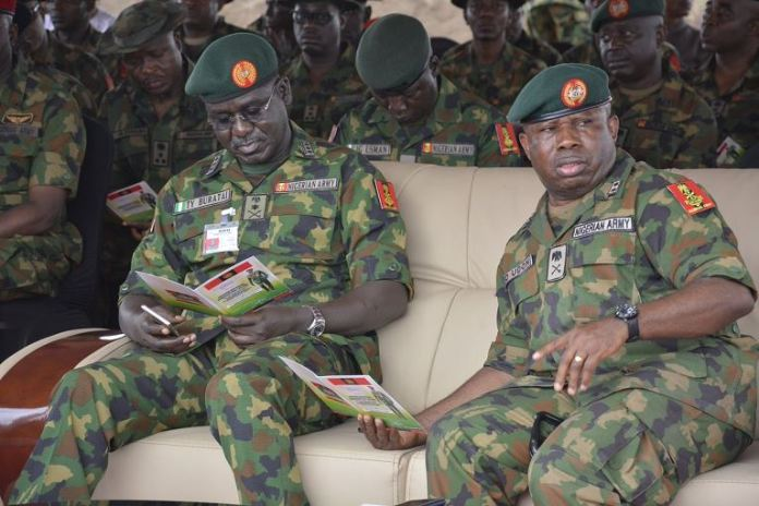 Lt Gen Tukur Buratai at the laying ceremony for the construction of Army Command Estate and Headquarters Directorate of Legal Services