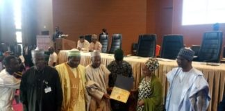 Maryam Uwais, who represented VP Osinbajo presented awards to the winners