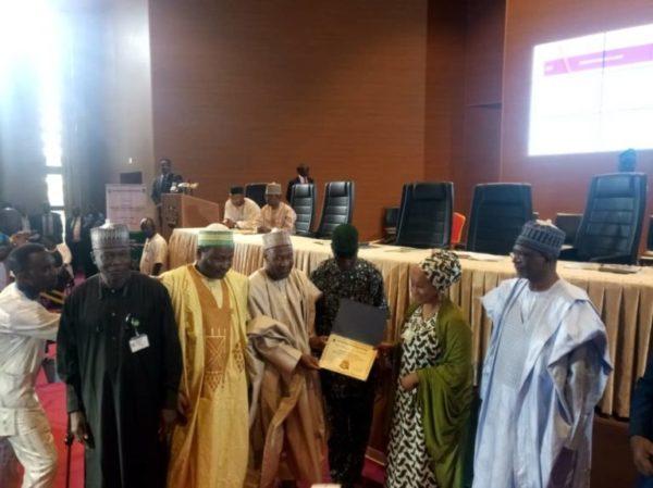 Maryam Uwais, who represented VP Osinbajo presented awards to the winners