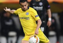 Perdo Rodriguez scored an important away goal as Chelsea drew away to Einthract Frankfurt