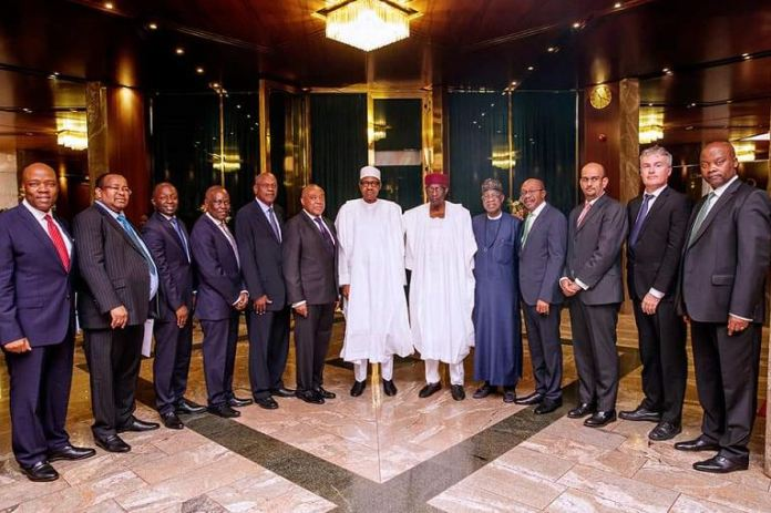 President Buhari receives in audience Group Chairman Ecobank Transnational Incorporated, Mr Emmanuel Ikazoboh at the State House
