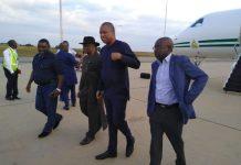 Presidential envoy by Foreign Minister Geoffrey Onyema arrive Malawi
